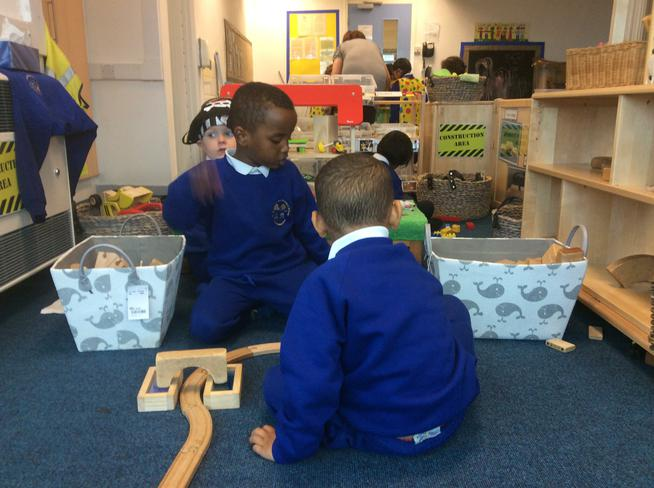 Working together on a building project