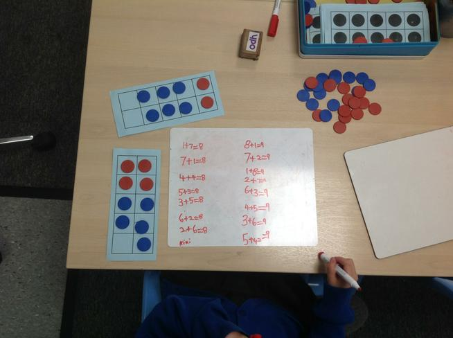 focussing on number bonds within 10.