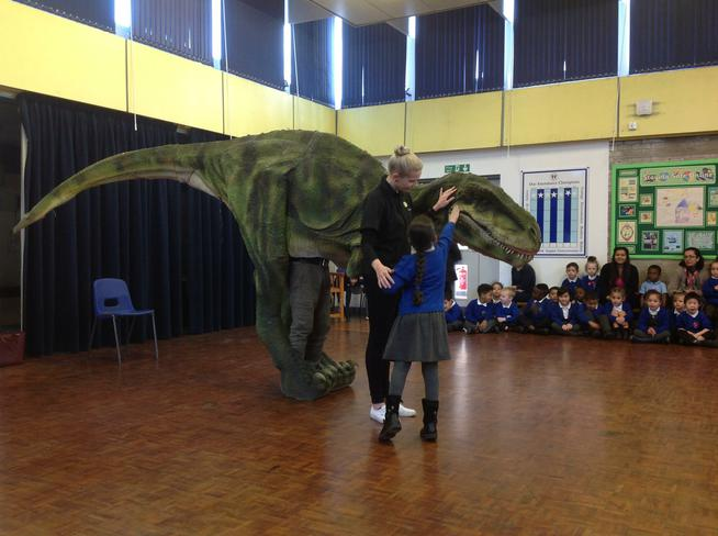 Sophie the T-Rex came to visit us.