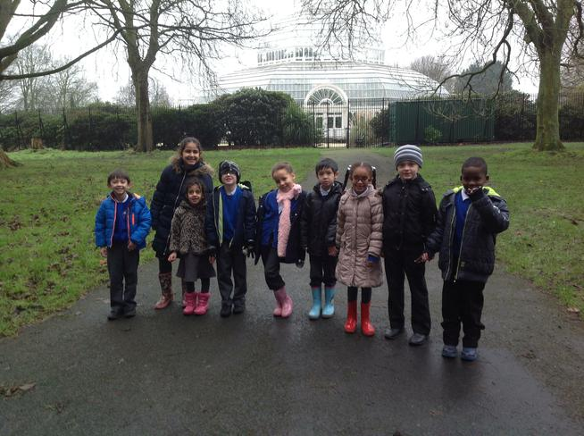 We went on the school mini bus to Sefton Park.