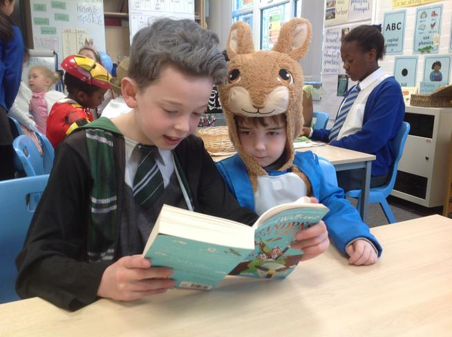 Thank you Year 6 buddies for reading with us.