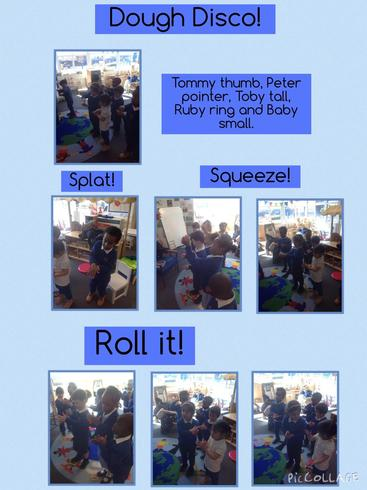 Developing our pencil control with 'dough disco' fun!