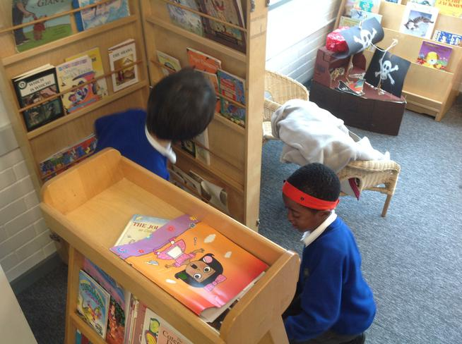 We went on a book hunt.