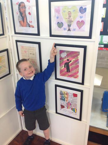 We loved seeing our artwork in the gallery!