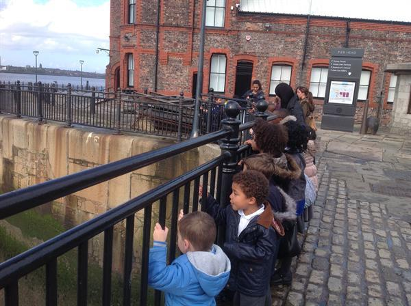 Taking in the views of the River Mersey