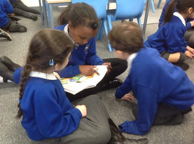Our Year 6 buddies read with us.