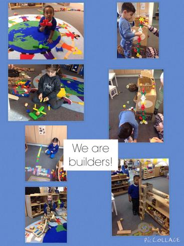 We love to use our amazing imaginations in construction.