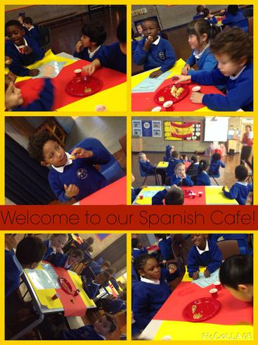 We tasted some delicious food in the Spanish Cafe.
