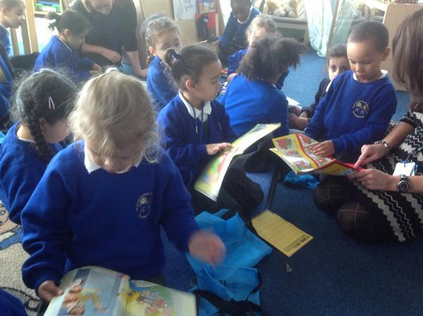 Daily reading in Reception