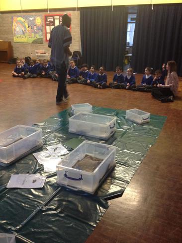 On Wednesday we were paleontologists.