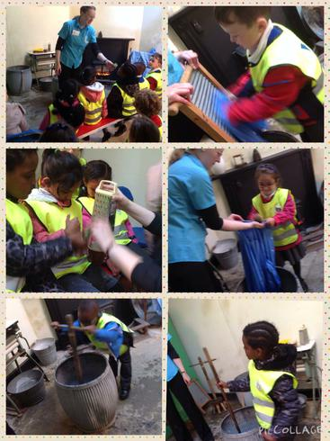 We learnt how clothes were washed in the past.