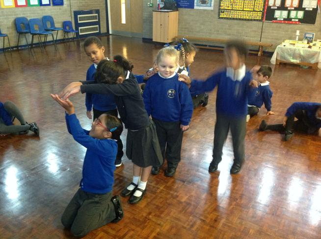 We thought about the shape and movement of puppets