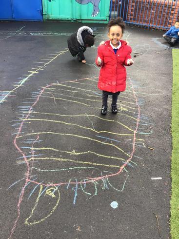 Ydidiya drew a fantastic rainbow jellyfish
