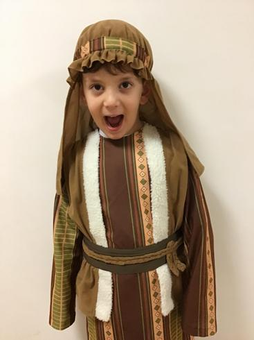Dren was a fabulous Joseph in our Nativity