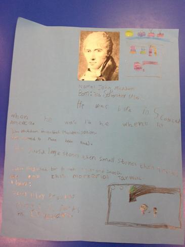Famous inventor John McAdam
