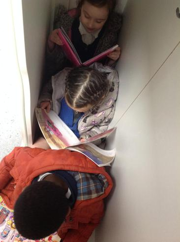 We found some fun and extreme places to read.
