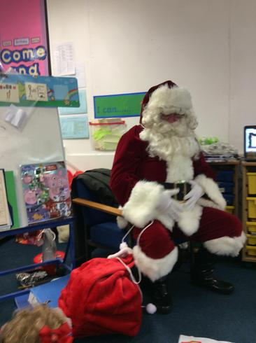 Father Christmas enjoyed our singing!