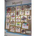 Nursery have painted self-portraits.