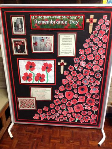 A wonderful Remembrance Display.