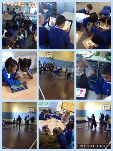 Enjoying PE, ICT and Art together