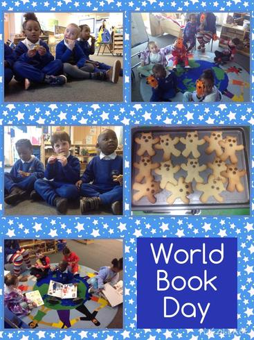 Sharing stories and home made biscuits to celebrate World Book Day!