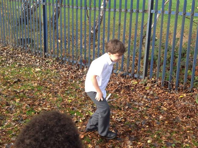 We found some unusual objects like sparkly rocks.