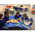 We enjoyed making numicon biscuits!