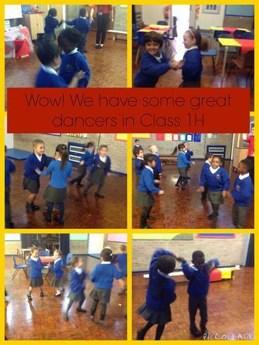 We enjoyed dancing to the beautiful music.