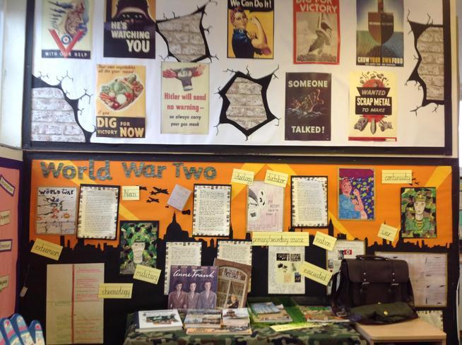 World War Two Topic Display - Year 6
