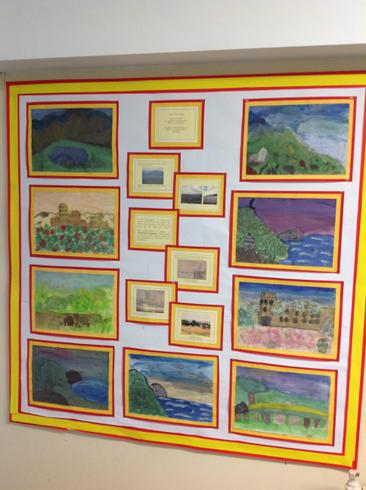 Year 5 added atmosphere to their Spaish landscapes