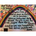 A rainbow & Lord's Prayer for Christian Aid Week