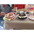 Grace - VE day celebrations - delicious cakes.JPG