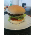 A tasty burger
