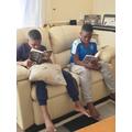 Enjoying a good read