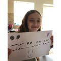A Morse code message