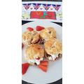 V E Day scones and colouring