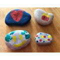 Painted stones for the garden