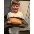 A home made loaf of bread