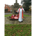 Remembrance service with Rev Dave