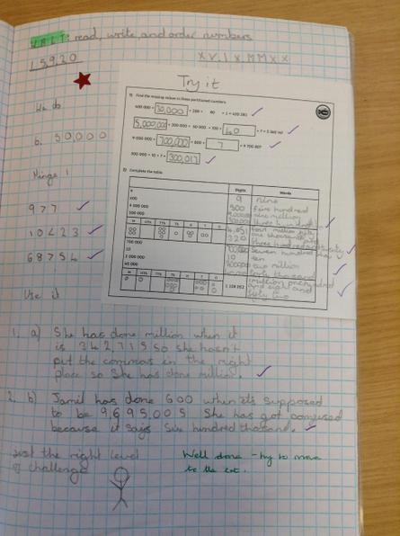 Class 14 - Fantastic effort with rounding Maisie
