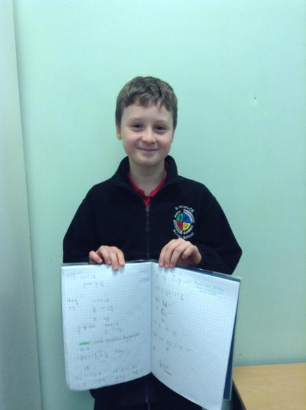 Alfie made some great progress multiplying and dividing fractions this week!