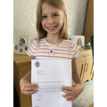 Receiving a Blue Peter badge!