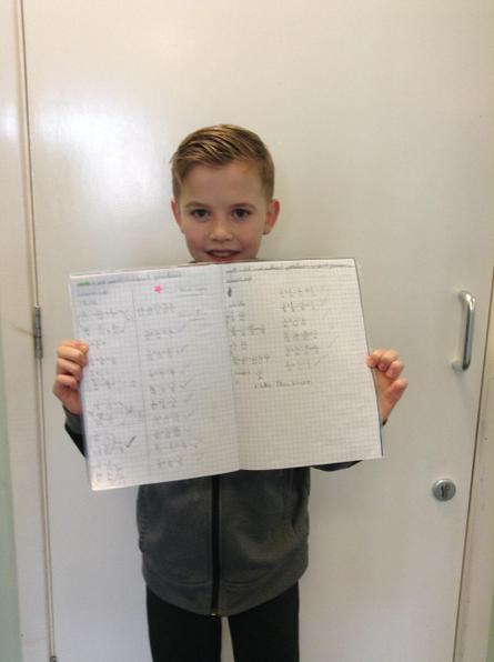 Great independent work today Louie. Well done.