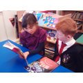 We read with year 5 reading buddies