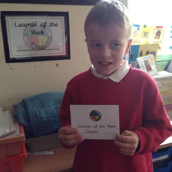 Congratulations to Oscar, our Learner of the Week 30.4.21