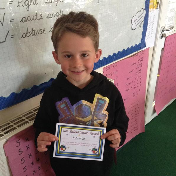 Congratulations to Fletcher, our Mathematician of the Week 30.4.21