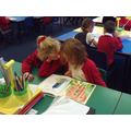 Partner reading in class