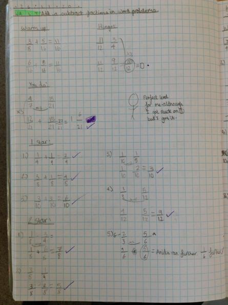 Some great progress with your fractions throughout this week Alexa!