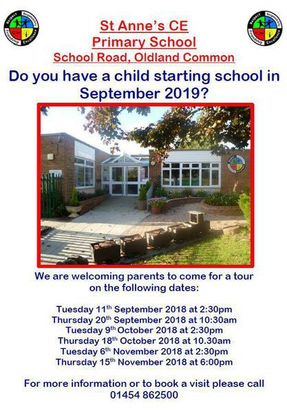 School Tours for children starting in reception in September 2019?