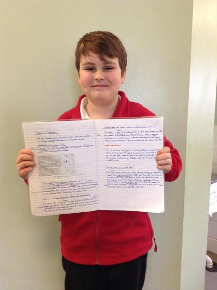 You showed some fantastic progress with the use of a semicolon in your writing Jed!